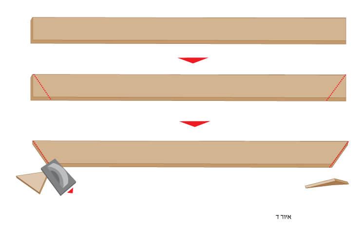 שולחן פיקניק בנייה שלב 4