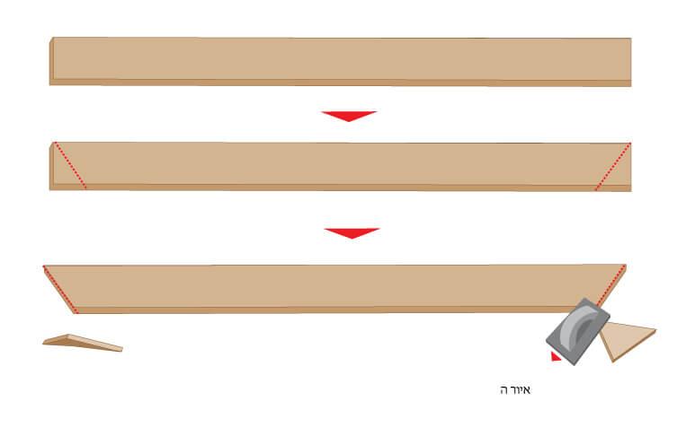 שולחן פיקניק בנייה שלב 5